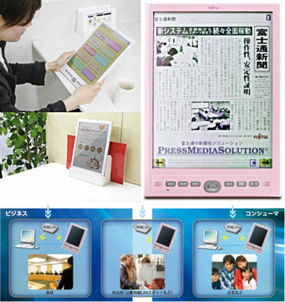 color e-paper mobile terminal flepia Fujitsu flepia: color ebooks reader it's the world's first color e-paper mobile terminal in addition to the display, bluetooth connection and wifi.