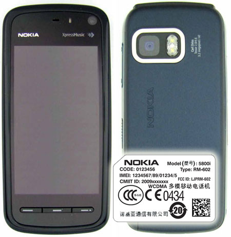 FCC approved Nokia 5800i might land in China