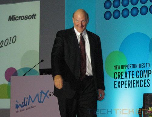 Steve Ballmer at IndiMix 2010