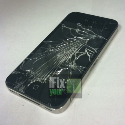 iPhone 4 Shattered Glass