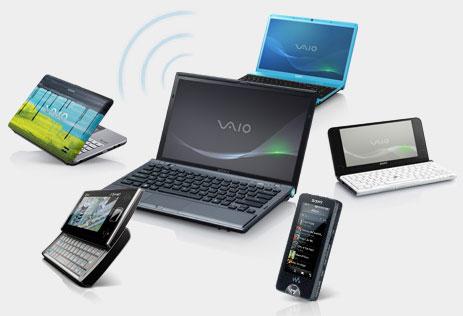 Sony VAIO Wi-Fi Personal hotspot