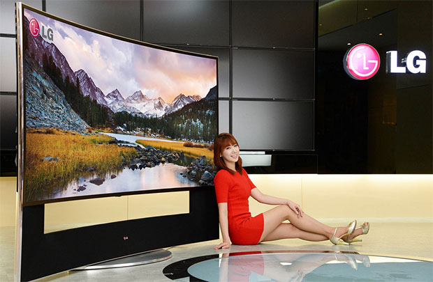 lg samsung to showcase 105 inch curved uhd tv at ces 2014 tech ticker. Black Bedroom Furniture Sets. Home Design Ideas