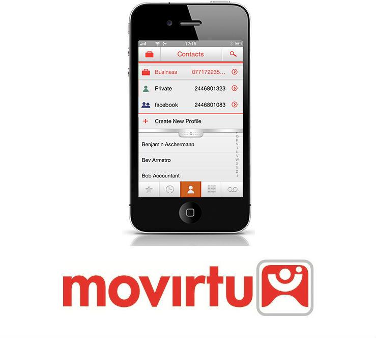 BlackBerry Movirtu on iPhone