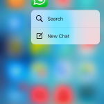 WhatsApp on iOS receives 3D touch support for the latest iPhone 6s and 6s Plus