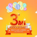 Xiaomi to host 3rd anniversary sale on 20 – 21 July