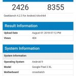 Google Pixel 3 XL visits GeekBench to reveal its specs